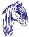 Bluework Horses