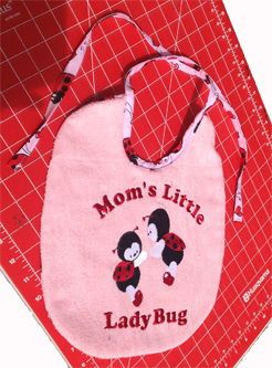 Project Idea by Wendy - she sewed the baby bib.